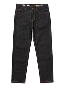 Denim Black Wash Straight Jeans With Stretch
