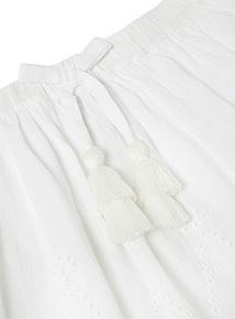 White Woven Skirt (3-14 years)