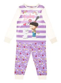 Lilac Minions Unigoat Pyjama Set (2-8 years)