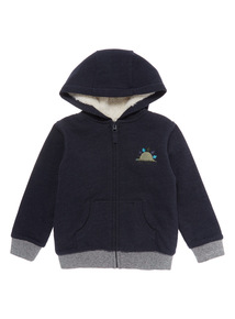 Navy Borg Lined Hoodie (9 months-6 years)