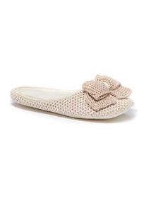 Oatmeal Trim Mule Slippers