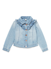 Blue Denim Frill Jacket (9 months-6 years)