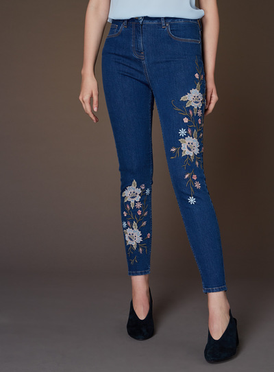 Premium Embroidered Jean