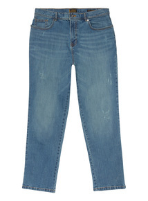 Distressed Light Denim Wash Jeans