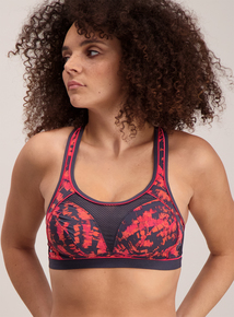 Active Grey & Pink High Impact Non Wired Sports Bras 2 Pack