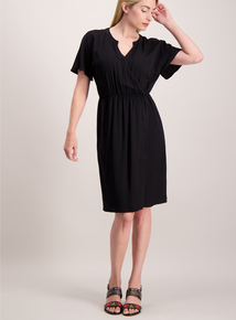 Online Exclusive Black Wrap Dress