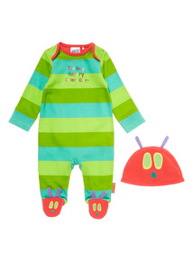 Multicoloured Hungry Caterpillar Sleepsuit (0-12 months)