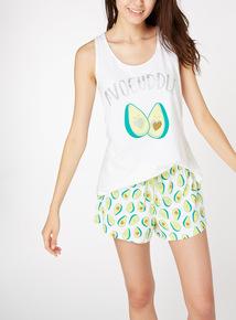 'Avocuddle' Avocado Print Pyjamas