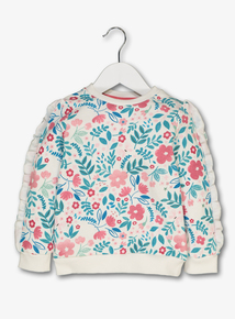 Multicoloured Floral Sweater With Frill Sleeves (9 months-6 years)