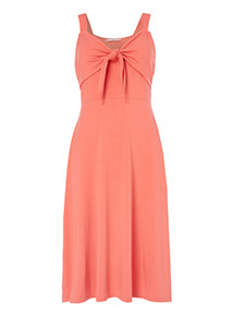 Bow Front Jersey Dress
