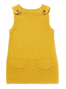 Yellow Knitted Pinafore (9 months-6 years)