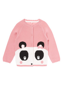 Pink Panda Novelty Cardigan (0-24 months)