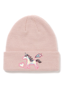 Pink Unicorn Beanie Hat (1-13 years)