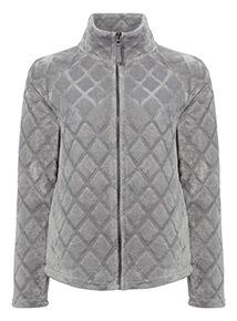 Textured Zip Through Fleece