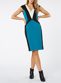 Illusion Colour Block Dress