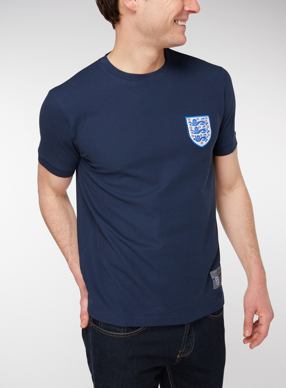 Official England Navy Football T-Shirt