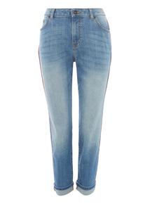 Denim Tipped Girlfriend Jeans