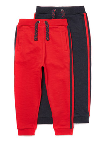 2 Pack Navy and Red Joggers (9 months- 6 years)