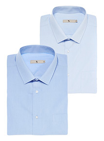 Blue Tailored Shirt 2 Pack