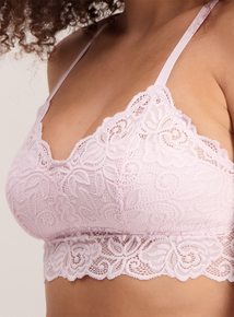 Pink & Ivory Supersoft Lace Bralette 2 Pack