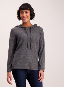 Grey Soft Touch Overhead Hoodie