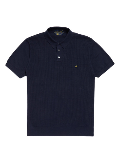 Admiral Navy Cotton Knit Polo