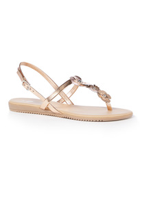 'Made In Italy' Flower Toe Post Sandals