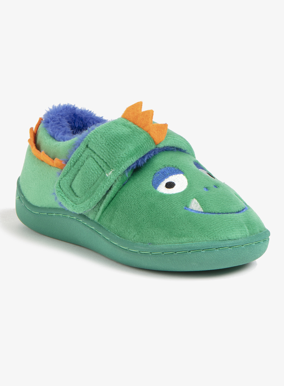 614f2fdb815a Kids Green Monster Novelty Slippers (4 Infant - 12)