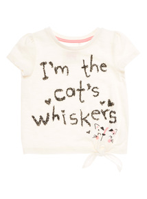 White Cats Whiskers Tee (9 months - 6 years)