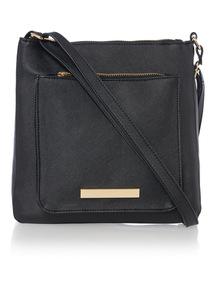Black Gold Hardware Cross Body Bag