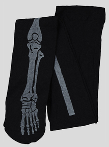 Halloween Black Skeleton Tights (6 months -12 years)