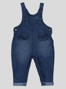 Blue Denim Knot Detail Dungarees (9 months- 6 years)