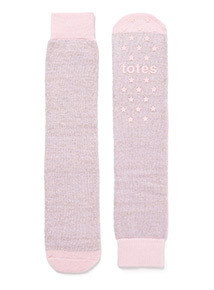 Pink Totes Sparkle Socks