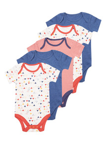 Boys Orange Mr Cool Bodysuits 5 Pack (0-24 months)