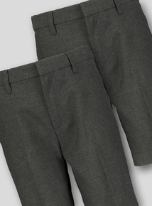 d6e8af66e1 Online Exclusive Grey Classic School Shorts 2 Pack (3-12 Years)