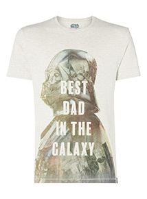 Grey 'Best Dad in the Galaxy' T-Shirt