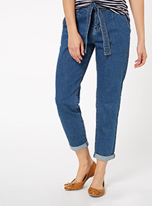 Belted Girlfriend Jeans
