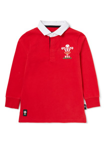 Red Welsh Rugby Union Polo Shirt (1-14 years)