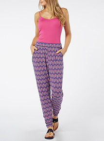 Piped Drapey Trousers