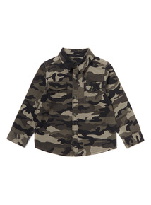 Multicoloured Camo Print Shirt (3-14 years)