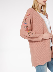 Light Pink Embroidered Cardigan