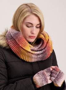 Multicoloured Ombre Knitted Snood