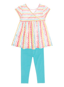 Girls Multicoloured Stripe Jersey Set (9 months - 6 years)