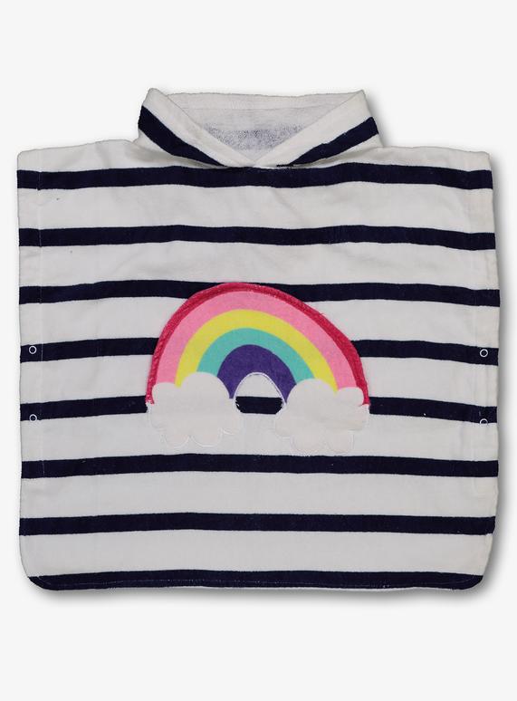 SKU: SS19 APRIL/MAY RAINBOW PONCHO DRESS:Multi Coloured