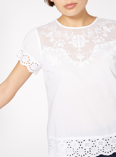 High Neck Appliqué Top