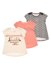 Pattern Tee 3 Pack (9 months - 6 years)