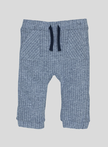 Navy Blue Striped Joggers (0-24 Months)