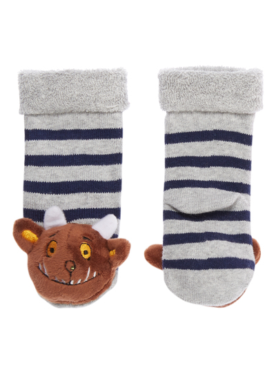 Baby Boys Blue Gruffalo Rattle Socks 0 24 Months Tu Clothing