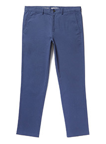 Blue Slim Fit Chinos With Stretch