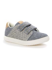 Denim Velcro Cupsole Shoes